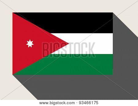 Jordan flag in flat web design style.