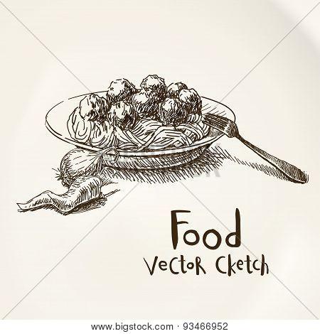Meat sketch