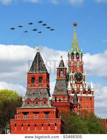 Aircraft Over The Kremlin