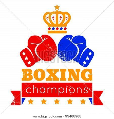 logo for boxing with gloves