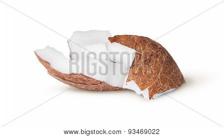 Two Pieces Of Coconut Pulp On Each Other