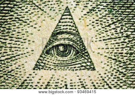 Eye Of Providence Us 1 Bill. Macro