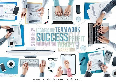 Business Concepts And Team At Work