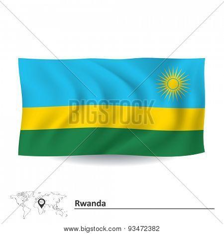 Flag of Rwanda - vector illustration
