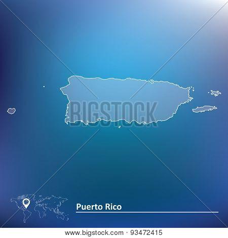 Map of Puerto Rico - vector illustration