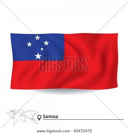 Flag of Samoa - vector illustration
