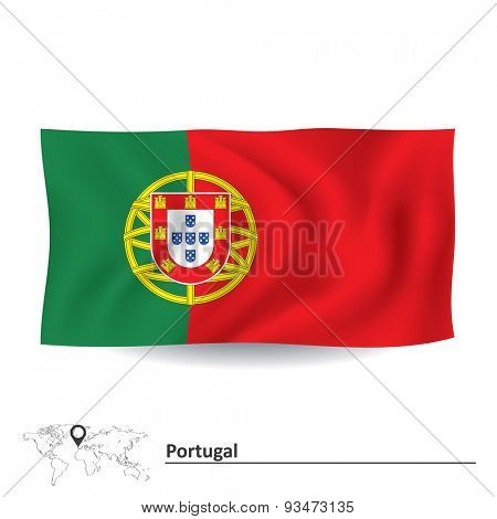Flag of Portugal - vector illustration