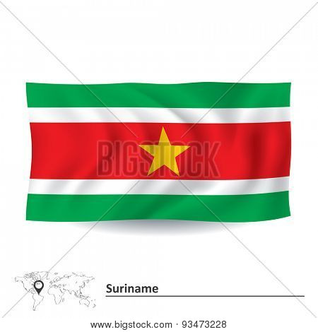 Flag of Suriname - vector illustration