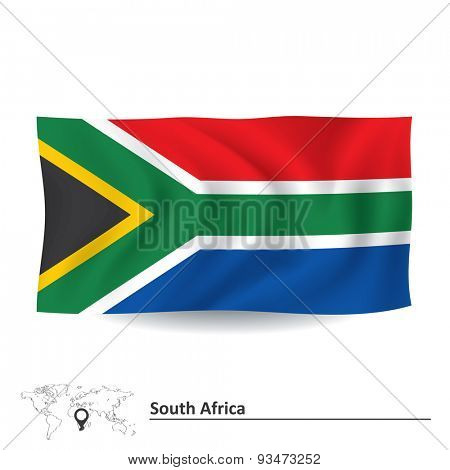 Flag of South Africa - vector illustration