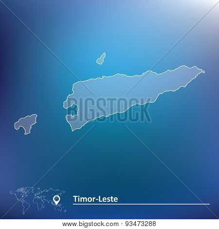 Map of Timor-Leste - vector illustration