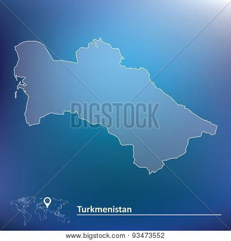 Map of Turkmenistan - vector illustration
