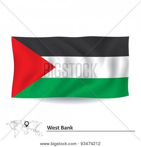 Flag of West Bank - vector illustration
