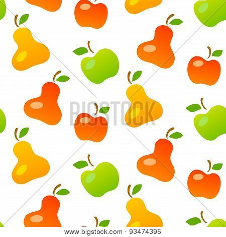 Bright Seamless Pattern Of Mellow Fruits