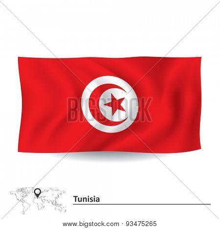 Flag of Tunisia - vector illustration