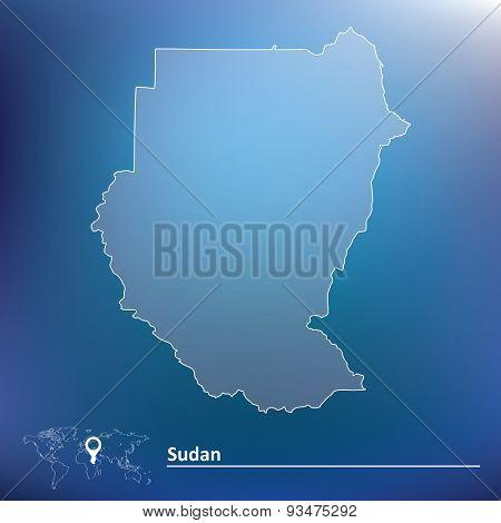 Map of Sudan - vector illustration