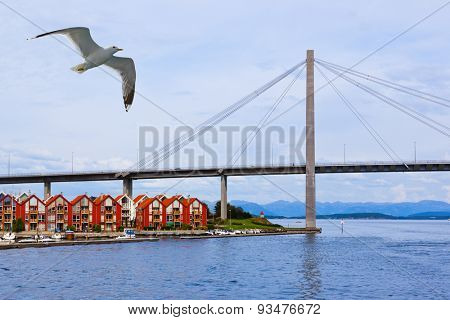 Stavanger Norway - architecture and nature background