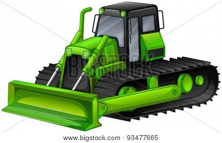 Close up bulldozer in modern design