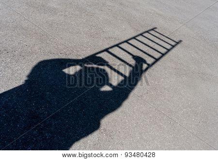 Climbing man shadow