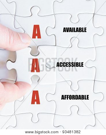 Last Puzzle Piece With Business Acronym Aaa