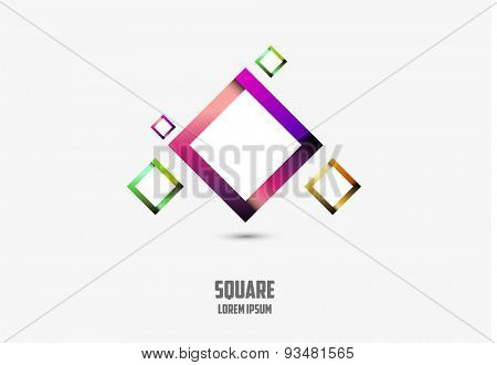 Square Logo Abstract Business Technology icon easy editable