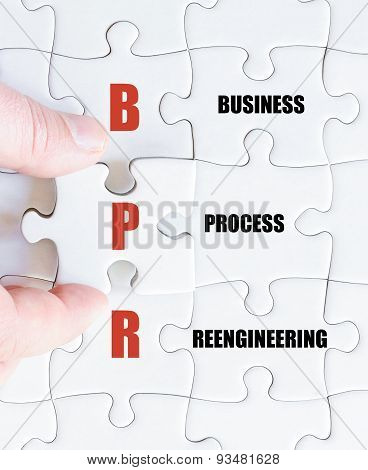 Last Puzzle Piece With Business Acronym Bpr