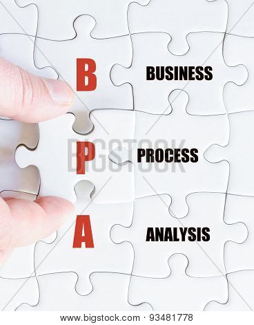 Last Puzzle Piece With Business Acronym Bpa