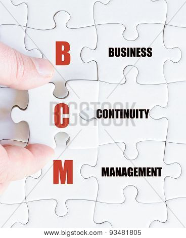 Last Puzzle Piece With Business Acronym Bcm