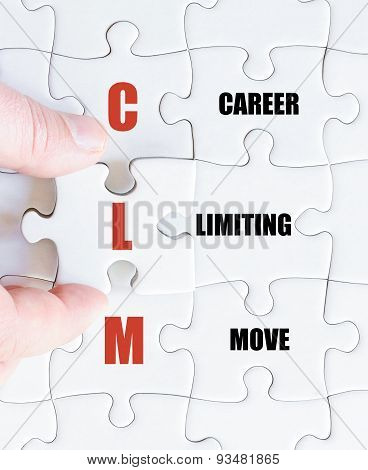 Last Puzzle Piece With Business Acronym Clm