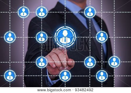 Businessman Touching Communication Conceptual