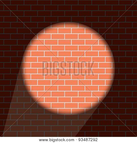 Vector modern brick wall background