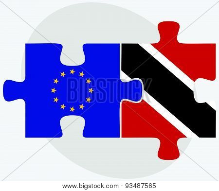 European Union And Trinidad And Tobago Flags