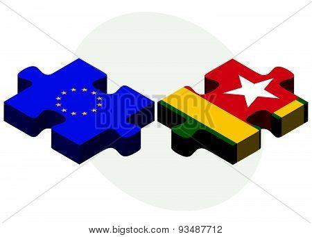 European Union And Togo Flags