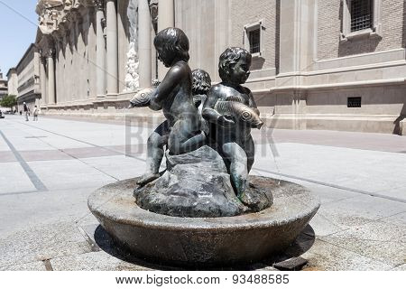 Fountain In Zaragoza, Spain