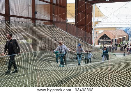 MILAN, ITALY - May 26: Brazil pavilion at Milan Expo, universal exposition on the theme of food on May 26, 2015 in Milan, Italy.