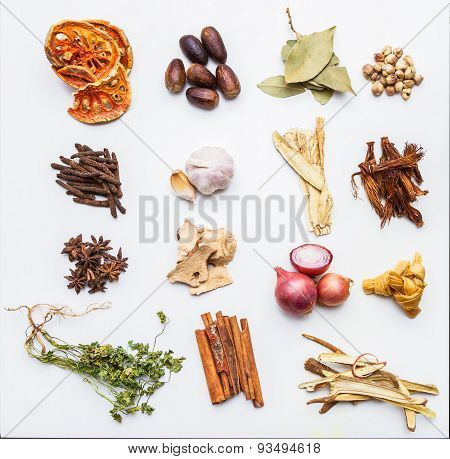 Spices, herbs, food And Cuisine Ingredients Background.