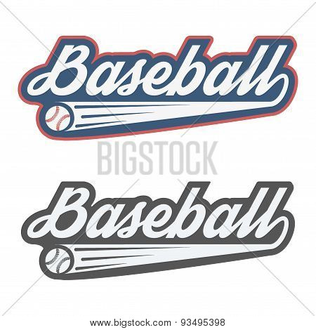 Vintage baseball label and badge