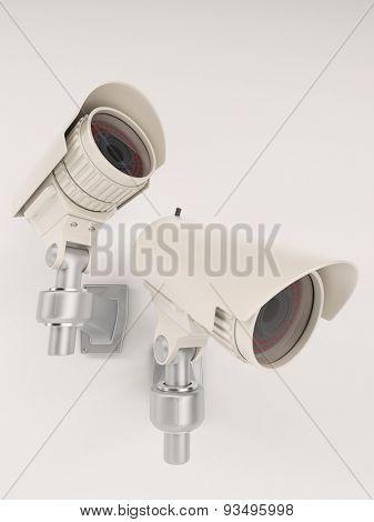 3D Render of CCTV Security Camera