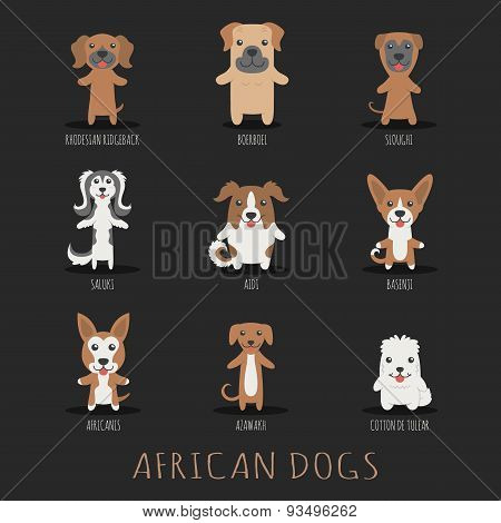 Set Of African Dogs