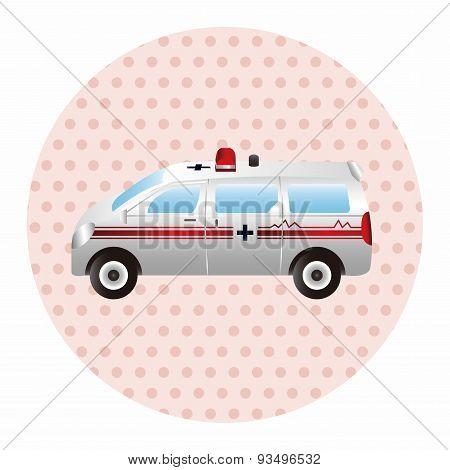 Transportation Theme Ambulance Elements Vector,eps