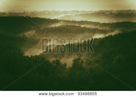 Foggy Hills Of Poland