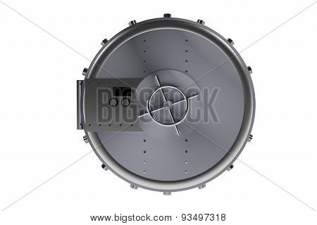 Silver Bank Vault Isolated