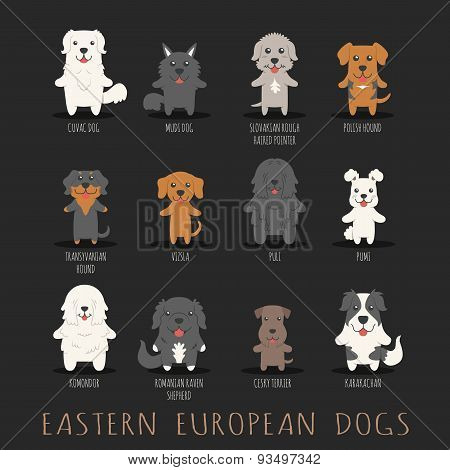 Set Of Eastern European Dogs
