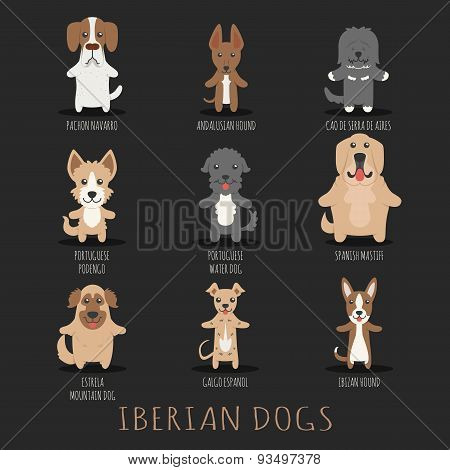 Set Of Iberian Dogs
