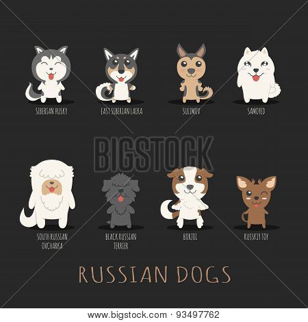 Set Of Russian Dogs