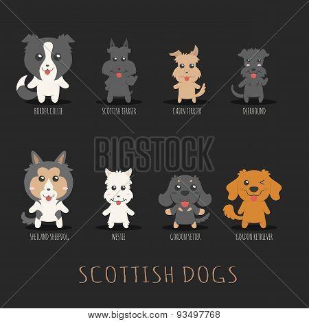 Set Of Scottish Dogs