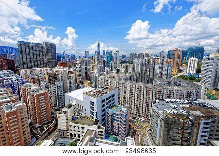 Hong Kong Urban downtown at day