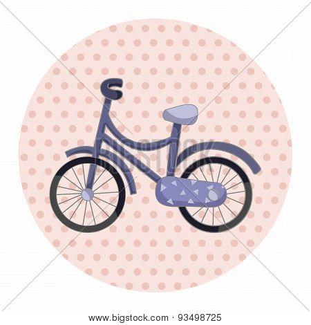 Transportation Bike Theme Elements