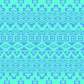 pic of aztec  - Turquoise vector seamless pattern with aztec ornaments - JPG