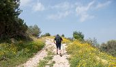 picture of israel people  - Israel trail hiking in spring nature landscape