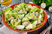 pic of liver  - Vegetable salad with cod liver seasoned with lemon sauce - JPG